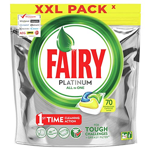 Fairy All-In-One Dishwasher Tablets Lemon, 70 Tablets