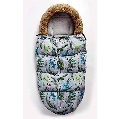 ZHSGV Cochecito de bebé Dormir Caliente Bolsa a Prueba de Viento de Invierno Sleepsack for Sobres en Silla de Ruedas Infantil Saco (Color : Forest)