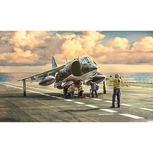 Italeri 1410S AV-8A Harrier-Maqueta de construcción (Escala 1:72), Color Plateado