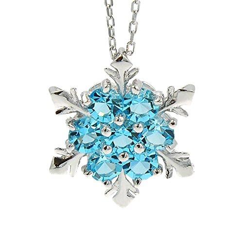 CoolChange Eiskönigin Halskette mit Schneeflocke Anhänger von ELSA aus echtem 925 Sterlingsilber