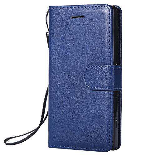 Hülle für Sony [Xperia Z5 Compact] Hülle Handyhülle [Standfunktion] [Kartenfach] Tasche Flip Case Cover Etui Schutzhülle lederhülle klapphülle für Xperia Z5 Compact - DEKT051770 Blau