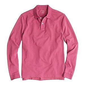 (ジェイクルー)J.Crew 長袖ポロシャツ Long-Sleeve Pique Polo Shirt ペール バーガンディ Pale Burgundy (L) [並行輸入品]