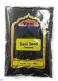 Rani Tukmaria (Graines Naturelles de Basilic Sacré) 7oz (200g) ~ Tout Naturel   Végétalien   Gluten Amical   NON-OGM   Origine Indienne