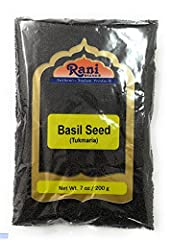"""You'll LOVE our Tukmaria (Basil Seeds) by Rani Brand--Here's Why: 100% Natural, No preservatives or """"fillers"""" & Great Health Benefits Alternate Names: Basil Seeds, Takmaria, Tukmaria, Tulsi Rani is a USA based company selling spices for over 30 years..."""