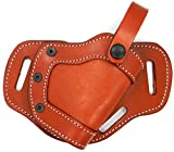 by CEBECI Premium Brown Leather Right Hand Side or Small of Back (SOB) Belt Holster for TAURUS MILLENNIUM PT111, PT140, PT145, PT745, G2, G2S, G2C, PT809, PT840, PT845, PT909, PT940, PT945
