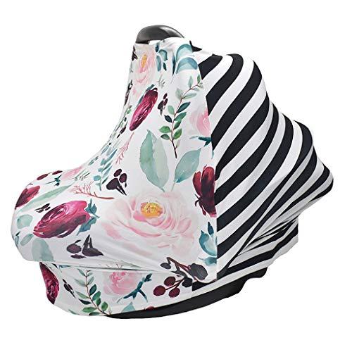 ZChun 4-in-1 Stretchy autostoelovertrek, baby Privacy Nursing Cover, Infinity Nursing Scarf voor het winkelmandje