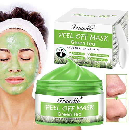 Grüner Tee Gesichtsmaske, Peel Off Maske, Mitesserentferner-Maske, Blackhead Remover Mask, Tiefenreinigung der Mitesser Gesichtsmaske, Anti Akne & Ölkontrolle Beruhigende & feuchtigkeitsspendende Haut