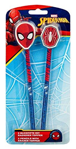 Bleistift Set mit Radierer, Marvel Spider-Man