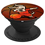 Funny Dabbing Dog Chien Chine Basketball - Drapeau chinois PopSockets Support et Grip pour Smartphones et Tablettes