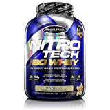 Whey Protein Isolate | MuscleTech Nitro-Tech Elite 100% Whey Isolate Protein Powder | Whey Protein Powder for Women & Men | Muscle Builder | Vanilla Protein Powder, 5 lbs (79 Servings)