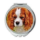 Yanteng Spiegel, Compact Spiegel, Hund Cavalier King Charles Spaniel Funny Haustier Tier, Taschenspiegel, Tragbare Spiegel