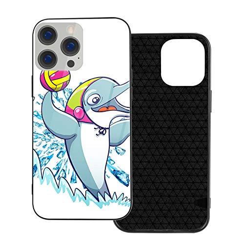 GKAOSPLSR Funda de teléfono compatible con iPhone 12 Series Anti-arañazos marco de vidrio TPU delgado a prueba de golpes funda de protección móvil para iPhone 12 Mini-5.4 2020- Dolphin Play Water Polo