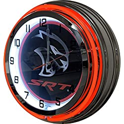 SRT Hellcat 19 Red Neon Clock