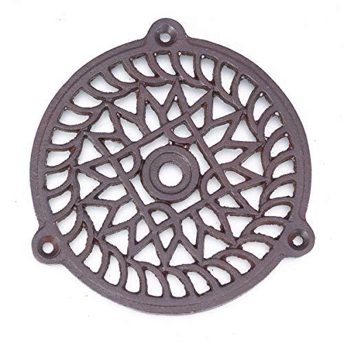 Antikas - Kamin Lüftungsgitter, Warmluftgitter für Kamine rund (13 cm)