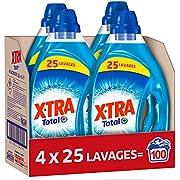 X Tra Total - Lessive Liquide - 100 Lavages (4 x 1.25L)