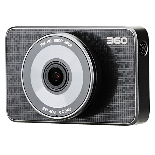 360 Brand Car Dash Cam FHD 1080P 165° Wide Angle Lens and 3 Inch LCD – Dashboard Camera Recorder with Wi-Fi Connection, Parking Monitor, Night Vision,G-Sensor, E-HDR, and Loop Recording