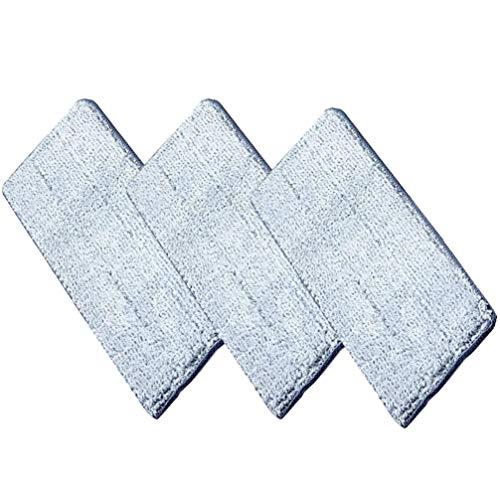 DOITOOL 3 Stück Wischpads Wiederverwendbares Wischtuch aus Baumwolle Nicht Handwaschbar Ersatz für Haushaltsreiniger für Das Heimbüro (Ohne Wischmopp Und Eimer)