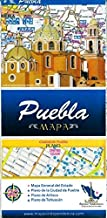 Puebla, Mexico, State and Major Cities Map (Spanish Edition)