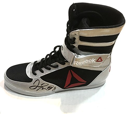 Floyd Mayweather signed Reebok boxing shoe autograph Beckett witness BAS COA