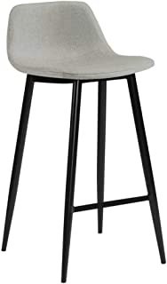 ZONS TAUPE EASY TO CLEAN TABOURET BAR LOOK TISSUS PIEDS NOIR, X-Large