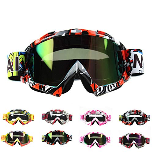 SOWUNO Motorcycle Goggles Anti-Fog Sand Proof Skating Goggles Cycling Goggles Sports Goggles for Outdoors