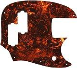WD Custom Pickguard For Fender Short Scale Mustang Bass PJ #05F Faux Tortiose