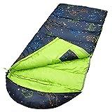 AceCamp Kids Sleeping Bag, Glow-in-The-Dark Sleeping Bag for Kids and Youth, Portable Water-Resistant Kids Sleeping Bag, Temp Rating 30F/ -1℃, For Camping, Hiking, Slumber Party