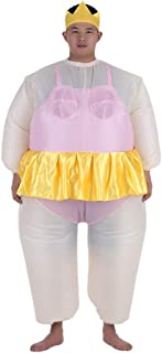 Goofly Cute Adult Inflatable Ballerina Costume Fat Suit for Women/Men Air Fan Operated Blow Up Halloween Party Fancy Jumps...