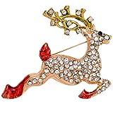 KUNQ Paar Geschenk Diamond Pins Mode Diamond Tier Pins Broschen Frauen -