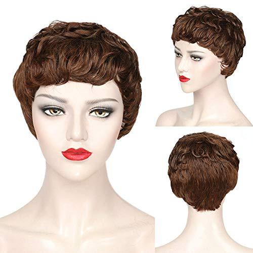 Perruques européennes et américaines moelleuses perruques de cheveux courts haute température dames en soie perruques de cheveux courts perruque de mi