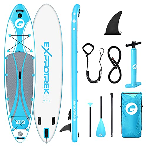 Exprotrek Stand Up Paddling Board blau mit Kajaksitz