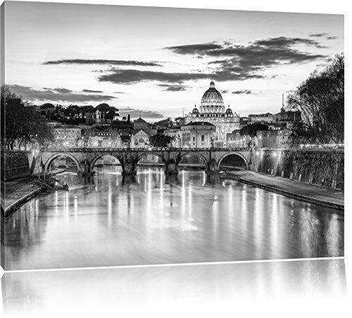 Pixxprint Basilica di San Pietro a Roma Stampa su Tela 100x70 cm Artistica murale