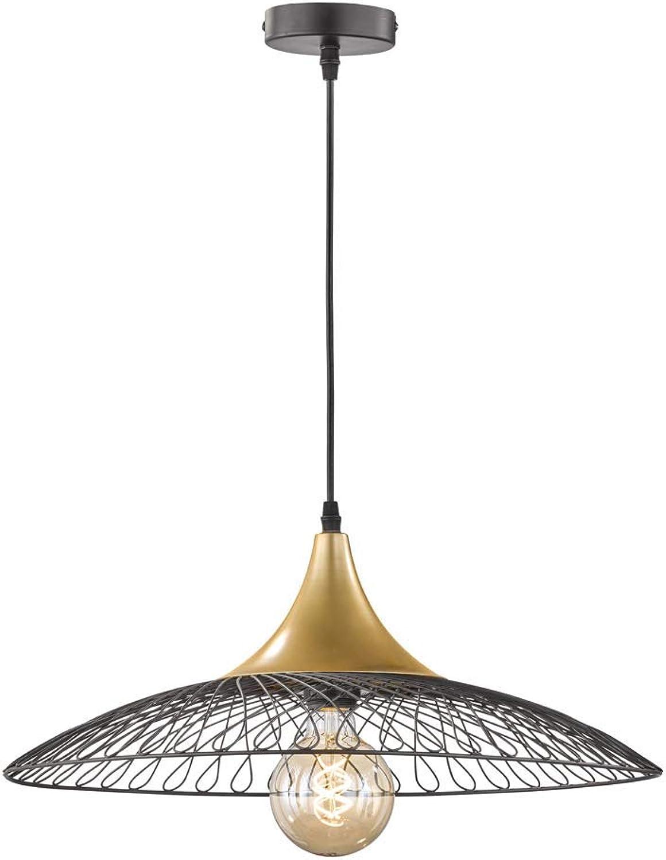 Auffllige Honsel LED Pendelleuchte schwarz Goldfarbig, Esstischlampe  50cm