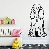 Tianpengyuanshuai Perro de Dibujos Animados Etiqueta de la Pared decoración del hogar calcomanía niños habitación Fondo Papel Tapiz de Arte calcomanía 36X61 cm