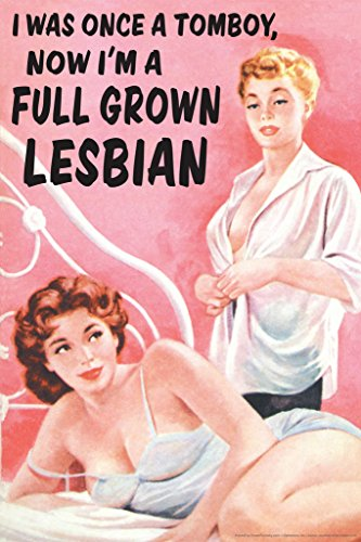 I was Once A Tomboy Now Im A Full Grown Lesbian Humor Cool Wall Decor Art Print Poster 12x18