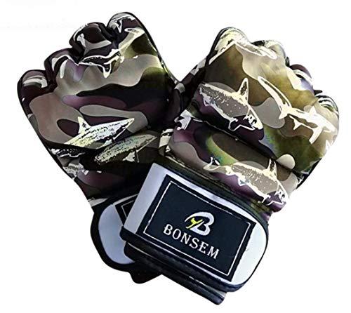 Boxhandschuhe Boxsack Modische Camouflage MMA Boxhandschuhe Soft Half Finger Design Grappling Boxsack Trainingshandschuhe Für Adult8Oz