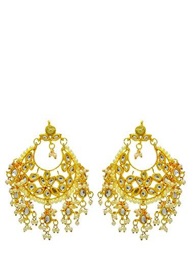 Traditionelle Kundan-Hochzeits-Ohrring-Set, indische Brautkleidung, Damenschmuck
