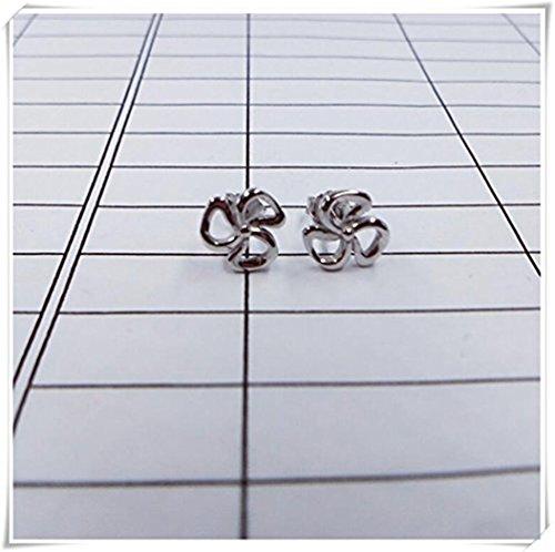 Pendientes de tuerca con diseño de flor de cerezo, de cobre o plata de ley, hechos por Hapa Girls, regalos para ella, joyería de boda de primavera