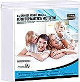 Ropa de Cama Utopía Premium 200 gsm 100% Impermeable Protector de colchón, Funda de colchón de Rizo de algodón, Transpirable, Estilo Ajustado Alrededor del elástico (90 x 200 cm)