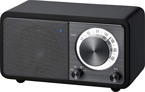 Oferta de Radio de escritorio portátil Sangean WR-7 (sintonizador FM RDS, Bluetooth, entrada auxiliar, altavoz incorporado, batería recargable (recargable)), negro mate