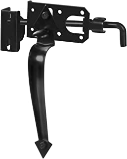 """National Hardware N178-616 27 Ornamental Gate Latches in Black, to 3"""""""