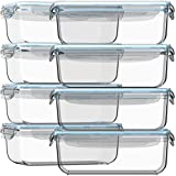 Glass Storage Containers with Lids 30 oz 16...