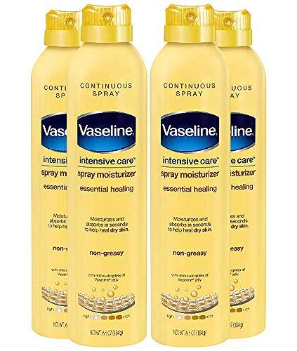 Vaseline Spray and Go Moisturizer in Total Moisture, 6.5 Ounce (Pack of 4) ,Vaseline-d6
