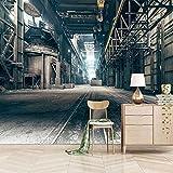 KZSDFT Murales de pared papel pintado efecto 3D Estilo industrial retro Lona autoadhesiva papel de pared dormitorios salón hotel fondo de TV Impermeable Papel Pintado 200x140 cm (ANxAL)
