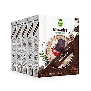 Veggie&Nature - Mezcla para brownies sin gluten (5 x 275 g)