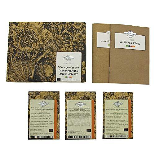 Wintergemüse (Bio) - Samen-Geschenkset mit 3 frosttoleranten Gemüsesorten für die Aussaat im Spätsommer