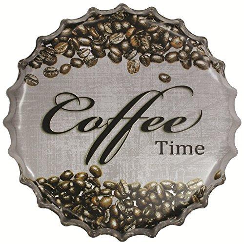 Générique Vintage Plaque Métal Décorative Capsule Plaque Emaillée Affiche Mural pr Café Bar 40cm - 33, XL