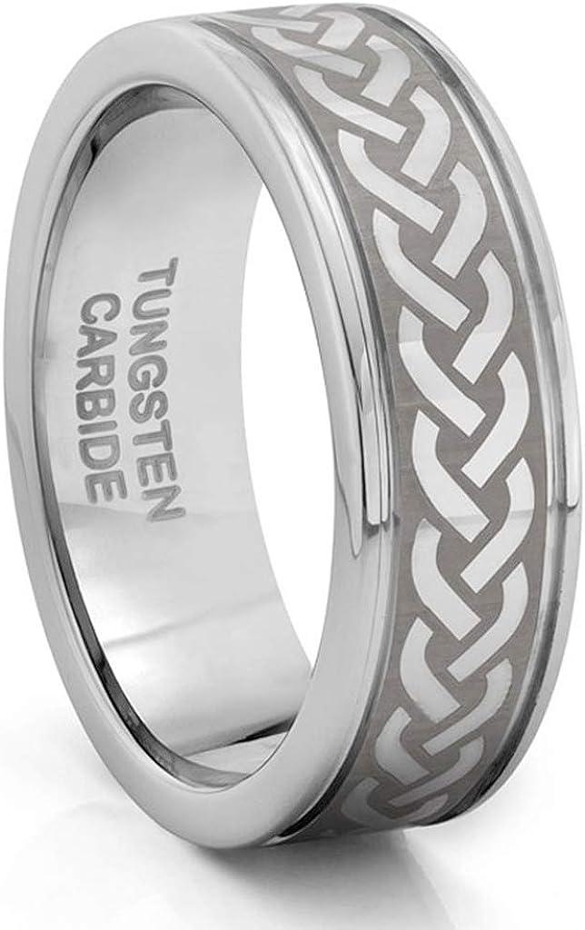 unisex TungstenMasters Free shipping / New Roberto Ferrini 8MM Tungsten Brushe Carbide Mens
