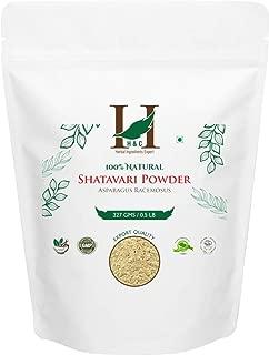 H&C 100% Natural Shatavari Root Powder ( Asparagus Racemosus ) 227 g (1/2 LB) Processed in FDA Registered Facility ( AN 100% Natural Herbal Supplement )