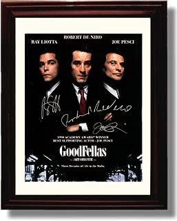 Framed Ray Liotta, Robert Deniro, and Joe Pesci Autograph Replica Print - Goodfellas